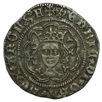 Henry VI Silver Half Groat Rosette-mascle